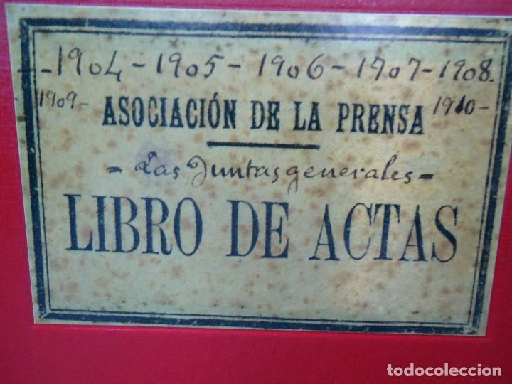 ASOCIACION DE LA PRENSA DE LA CORUÑA LIBRO DE ACTAS 1904 1911 EDICION FACSIMIL (Libros Antiguos, Raros y Curiosos - Bellas artes, ocio y coleccionismo - Otros)