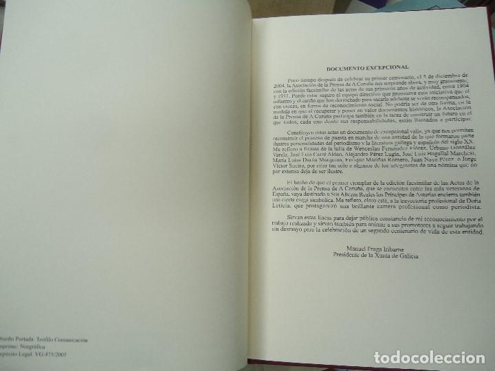 Libros antiguos: Asociacion de la prensa de la coruña libro de actas 1904 1911 edicion facsimil - Foto 4 - 98636403