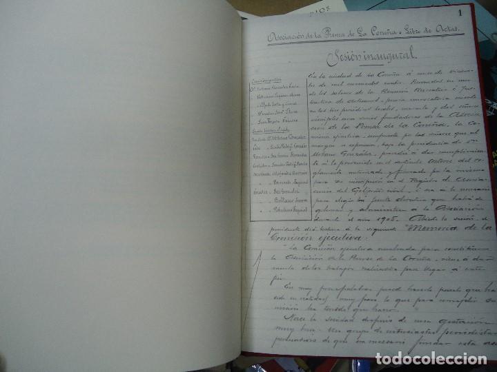 Libros antiguos: Asociacion de la prensa de la coruña libro de actas 1904 1911 edicion facsimil - Foto 6 - 98636403