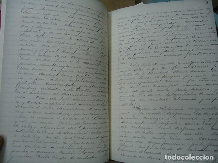 Libros antiguos: Asociacion de la prensa de la coruña libro de actas 1904 1911 edicion facsimil - Foto 7 - 98636403