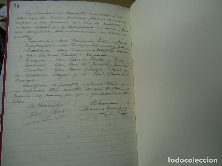 Libros antiguos: Asociacion de la prensa de la coruña libro de actas 1904 1911 edicion facsimil - Foto 9 - 98636403