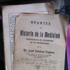 Libros antiguos: JOSÉ ESTEBAN CEPERO. APUNTES DE HISTORIA DE LA MEDICINA ... C.1920. Lote 98705991
