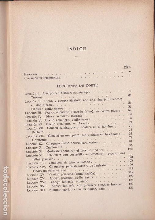 Libros antiguos: METODO DE CORTE, PRUEBA Y ARMADO. ELISA JARO. ED. GUSTAVO GILI 1935 - Foto 4 - 98723531