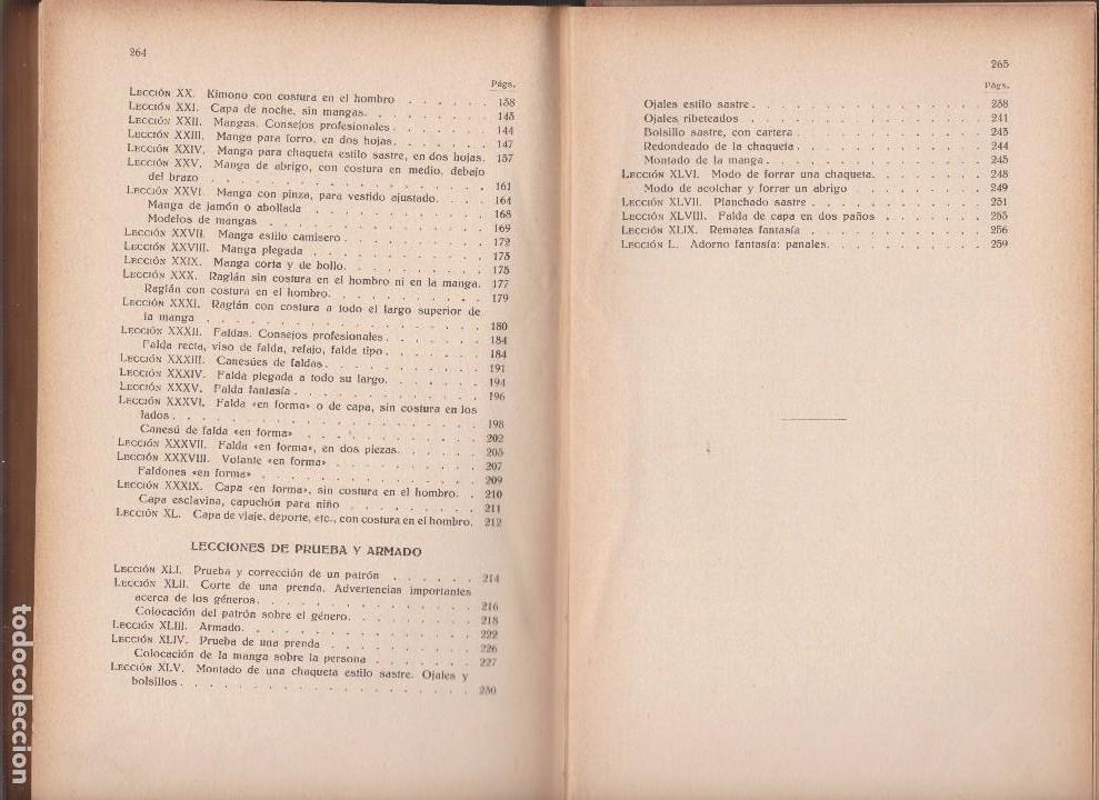Libros antiguos: METODO DE CORTE, PRUEBA Y ARMADO. ELISA JARO. ED. GUSTAVO GILI 1935 - Foto 5 - 98723531