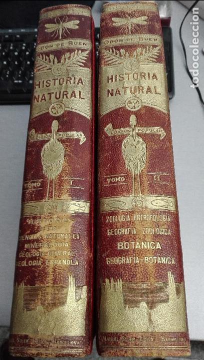 Libros antiguos: HISTORIA NATURAL / ODON DE BUEN / 2 TOMOS / MANUEL SOLER - BARCELONA FINALES SIGLO XIX - Foto 2 - 99087283