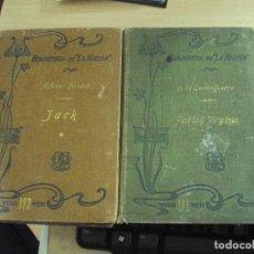 Libros antiguos: 2 LIBROS DE LA BIBLIOTECA DE LA NACION: PABLO Y VIRGINIA Y JACK DE 1905. Lote 99271527