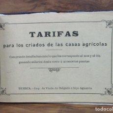 Libros antiguos: TARIFAS PARA LOS CRIADOS DE LAS CASAS AGRÍCOLAS. C. 1910. . Lote 99369707