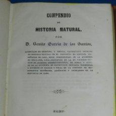 Libros antiguos: (MF) BENITO GARCIA DE LOS SANTOS - COMPENDIO DE HISTORIA NATURAL , JAEN 1848. Lote 99372791