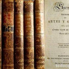 Libros antiguos: SECRETOS RAROS DE ARTES Y OFICIOS. OBRA UTIL A TODA CLASE DE PERSONAS. 12 TOMOS. 1806...1829.. Lote 99426247