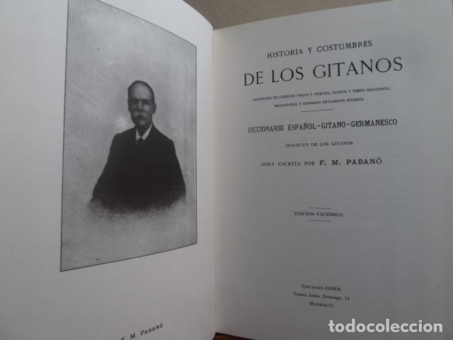 Libros antiguos: HISTORIA Y COSTUMBRES DE LOS GITANOS -F,M.PABANO - - Foto 4 - 99440963