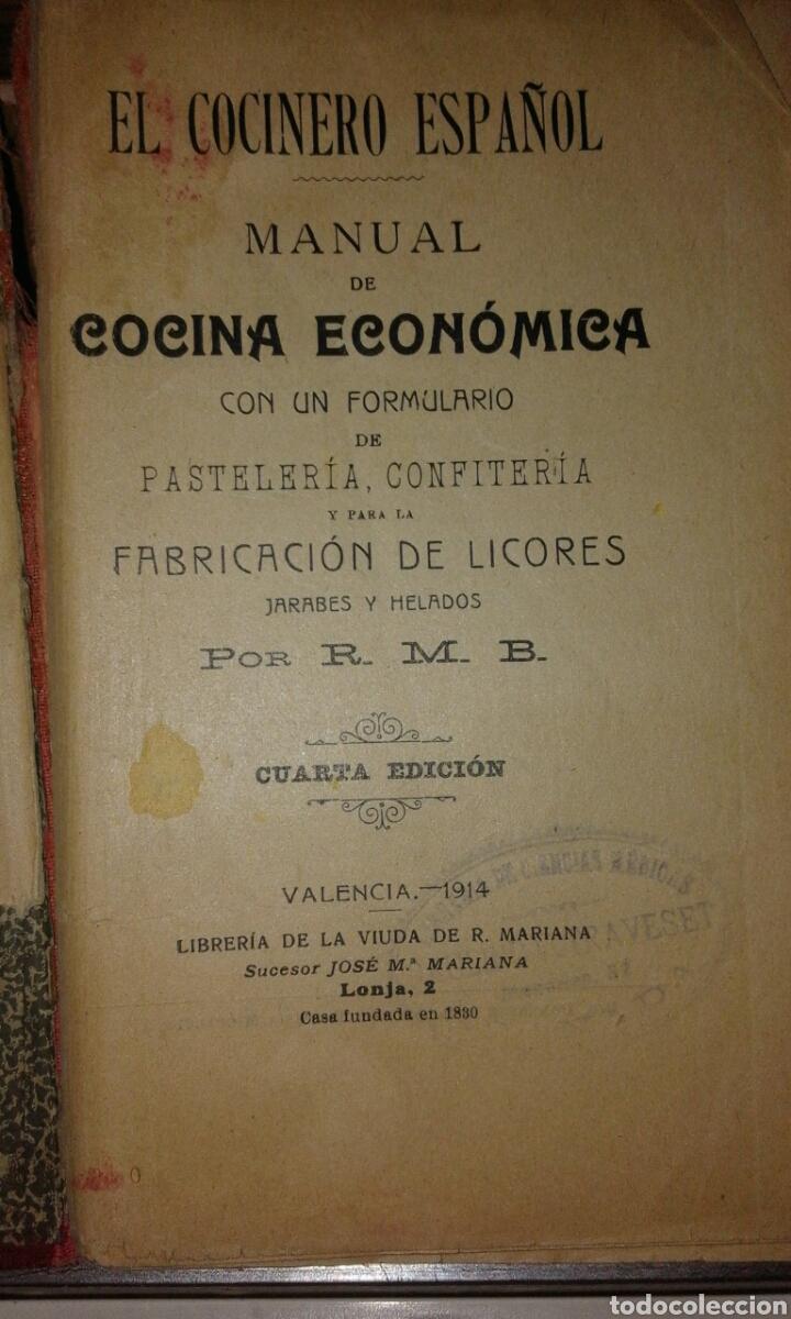 Libros antiguos: cocina española 1914 - Foto 2 - 99509771