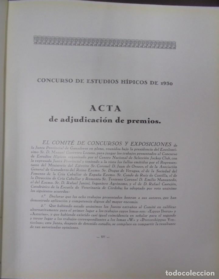 Libros antiguos: RECOPILACION DE ESTUDIOS DE CRIA CABALLAR. EJEMPLAR NUMERADO. 1931. JEREZ. ILUSTRADO. LEER - Foto 4 - 99517851