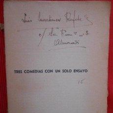 Libros antiguos: TRES COMEDIAS CON UN SOLO ENSAYO. Lote 99620023