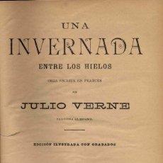 Libros antiguos: CUATRO NOVELAS DE JULIO VERNE EN UN VOLUMEN. Lote 99947343