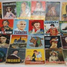 Libros antiguos: LOTE DE 38 MINI LIBROS DE LA ENCICLOPEDIA PULGA, EDICIONES G.P., AÑOS 50. Lote 99948975