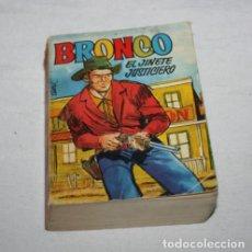 Libros antiguos: MINI LIBRO DEL OESTE TIPO COMIC, BRONCO EL JINETE JUSTICIERO, EDITORIAL BRUGUERA 1966. Lote 99950619