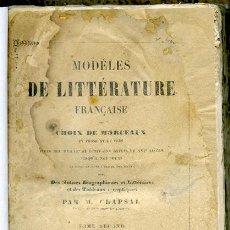 Libros antiguos: CHOIX DE MORCEAUX: MODÈLES DE LITTÉRATURE FRANÇAISE. TOME SECOND: POÉSIE. PARIS, 1841. Lote 99975699