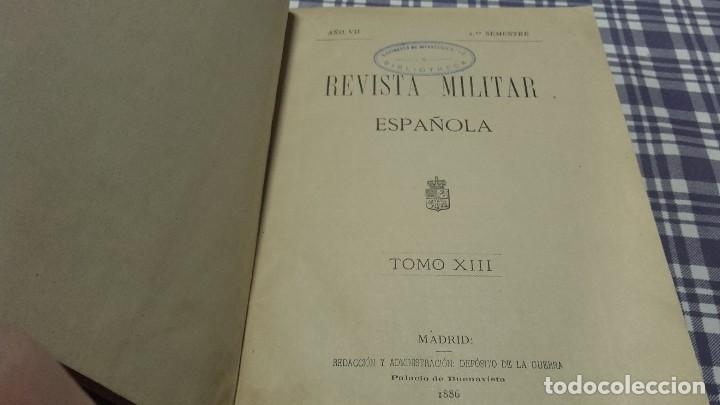 REVISTA MILITAR ESPAÑOLA TOMO XIII 1886 (Libros Antiguos, Raros y Curiosos - Literatura Infantil y Juvenil - Otros)