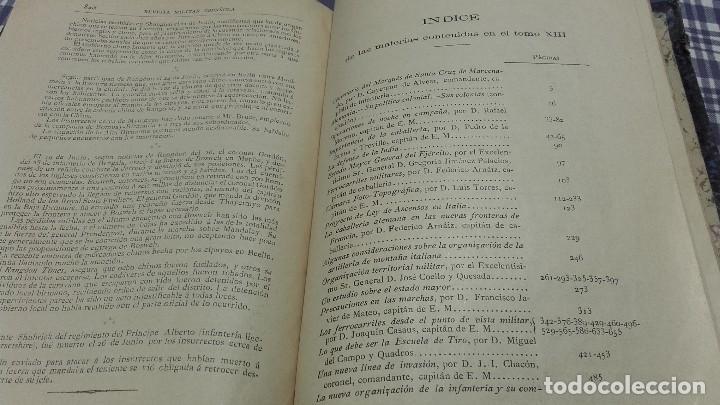 Libros antiguos: Revista Militar Española Tomo XIII 1886 - Foto 6 - 99979663