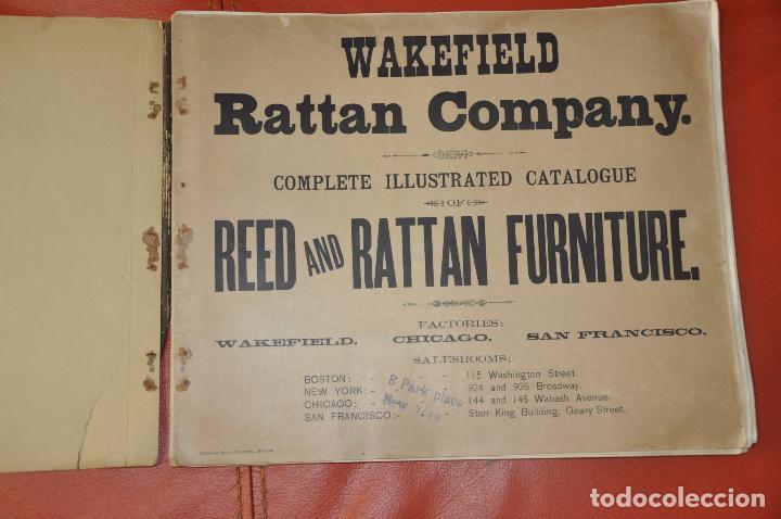 Libros antiguos: WAKEFIELD RATTAN COMPANY ILLUSTRATED CATALOGUE 1890 - Foto 2 - 99988691