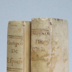 Libros antiguos: 1789.- COMPEDIO DE LA HISTORIA DE ESPAÑA. R. P. DUCHESNE. 2 TOMOS. ED. PEDRO MARIN. Lote 99990291