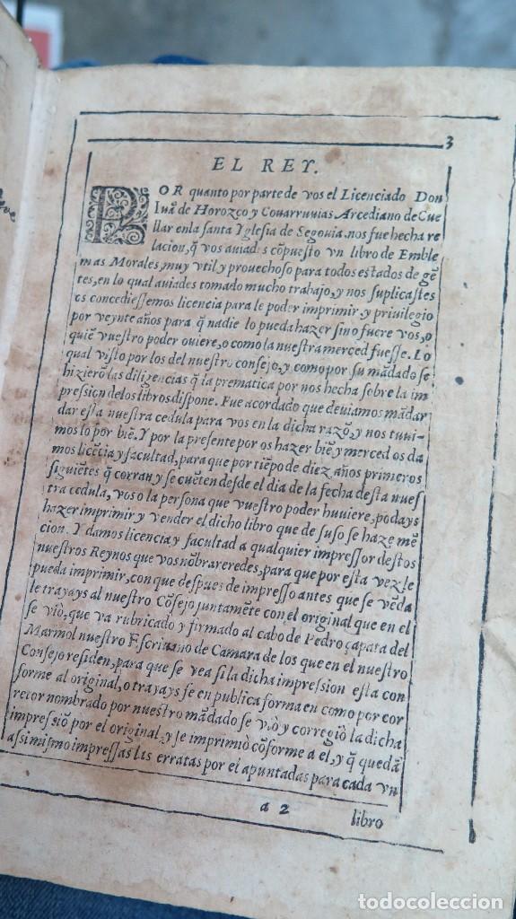 Libros antiguos: 1591.- EMBLEMAS MORALES. JUAN DE HOROZCO Y COVARRUBIAS. SEGOVIA. JUAN DE LA CUESTA - Foto 5 - 99991075