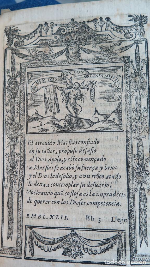 Libros antiguos: 1591.- EMBLEMAS MORALES. JUAN DE HOROZCO Y COVARRUBIAS. SEGOVIA. JUAN DE LA CUESTA - Foto 7 - 99991075