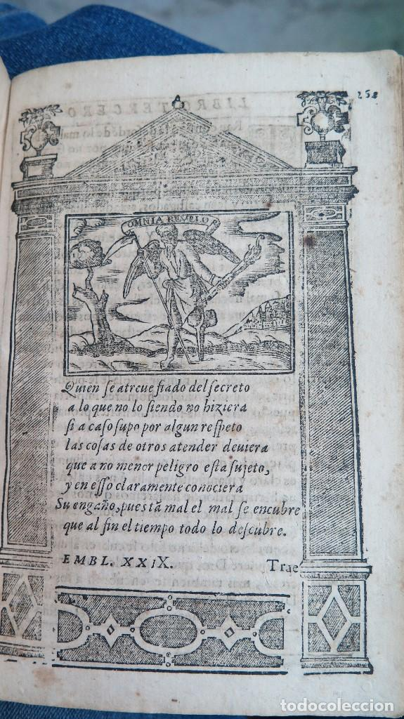 Libros antiguos: 1591.- EMBLEMAS MORALES. JUAN DE HOROZCO Y COVARRUBIAS. SEGOVIA. JUAN DE LA CUESTA - Foto 12 - 99991075