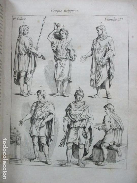Libros antiguos: COSTUME DES ANCIENS PEUPLES, A L'USAGE DES ARTISTES. M. DANDRÉ BARDON. 3 TOMOS. 1784-1785. - Foto 4 - 100135467