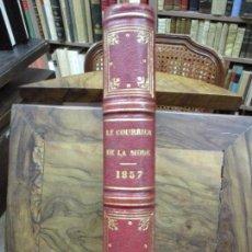 Libros antiguos: LE COURRIER DE LA MODE. [REVISTA.] 1857. MODA. BORDADOS. GRABADOS DE MODA. HISTORIA DEL TRAJE. . Lote 100295015