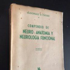 Libros antiguos: MCDONALD & CHUSID. COMPENDIO DE NEURO-ANATOMÍA Y NEUROLOGÍA FUNCIONAL. Lote 100309006