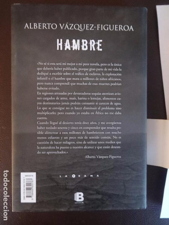 Libros antiguos: ALBERTO VÁZQUEZ FIGUEROA - HAMBRE -PRIMERA EDICIÓN - Foto 2 - 100368471