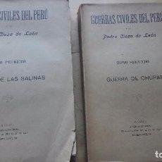 Libros antiguos: CIEZA: GUERRAS CIVILES DEL PERÚ. SALINAS Y CHUPAS. 2 TOMOS, (GARCÍA RICO, MADRID, 1877). Lote 100515403