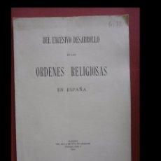 Libros antiguos - Del excesivo desarrollo de las ordenes religiosas en España - 100579027