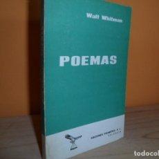 Livros antigos: WALT WHITMAN / POEMAS. Lote 100748951