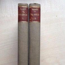 Libros antiguos: LA GLORIA TOMO I Y II B. PEREZ GALDOS 1925. NOVELAS ESPAÑOLAS CONTEMPORANEAS EXLIBRIS .. Lote 100986499