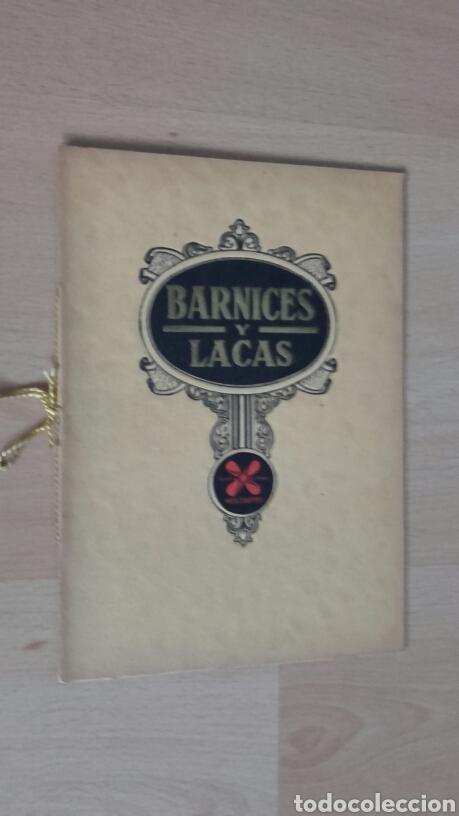 BARNICES Y LACAS. MUY ANTIGUO. (Libros Antiguos, Raros y Curiosos - Ciencias, Manuales y Oficios - Otros)