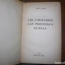 Libros antiguos: (F-1) LOTE DE DOS LIBROS DE LA HOSPEDERIA DE BUEN HUMOR POR ANITA LOOS AÑO 1944. Lote 101085339
