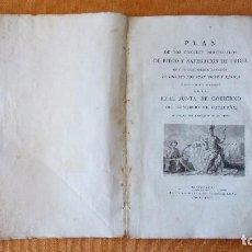 Libros antiguos: PLAN DE LOS CANALES PROYECTADOS DE RIEGO Y NAVEGACIÓN DE URGEL. J. SOLER Y FANECA, 1816.. Lote 101088491