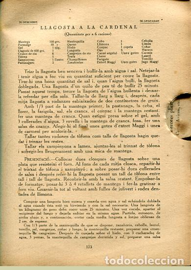 Libros antiguos: Classes de Cuina. Curs de 1930-31 - Clases de Cocina - Rondissoni, Josep - Foto 3 - 101156351