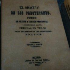 Libros antiguos: EL ORÁCULO DE LOS PREGUNTONES JUEGO DE VEINTE CUATRO PREGUNTAS PUESTAS EN VERSO ILUSIONISMO FACSIMIL. Lote 101168563