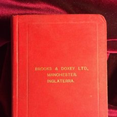 Libros antiguos: BROOKS & DOXEY LTD MANCHESTER INGLATERRA - MAQUINARIA TEXTIL 1920. Lote 101341184