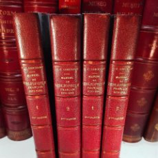 Libros antiguos: MANUEL DU BIBLIOPHILE FRANCAIS - 1470-1920 - 4 TOMOS - F.-C. LONCHAMP - PARIS - LAUSANNE - 1927 -. Lote 101371539