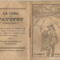 Libros antiguos: EL PARAIGUA DE LA MERCENETA - JOSEP Mª FOLCH I TORRES - MINI LLIBRE CASA DEL PATUFET - PORT JUNCEDA. Lote 101400599