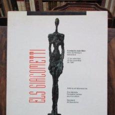 Libros antiguos: ELS GIACOMETTI. 1987. . Lote 101447227