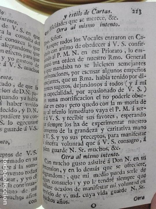 Libros antiguos: NUEVO ESTILO Y FORMULARIO DE ESCRIBIR CARTAS MISIVAS Y RESPONDER A ELLAS - MADRID - 1777 - - Foto 7 - 101696943