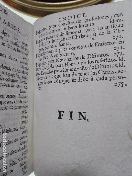 Libros antiguos: NUEVO ESTILO Y FORMULARIO DE ESCRIBIR CARTAS MISIVAS Y RESPONDER A ELLAS - MADRID - 1777 - - Foto 8 - 101696943
