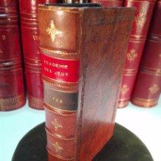 Libros antiguos: ACADEMIE UNIVERSELLE DES JEUX, CONTENANT LES REGLÉS DES JEUX - PARIS - 1739 - FRANCES -. Lote 101740487