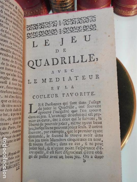 Libros antiguos: ACADEMIE UNIVERSELLE DES JEUX, CONTENANT LES REGLÉS DES JEUX - PARIS - 1739 - FRANCES - - Foto 4 - 101740487