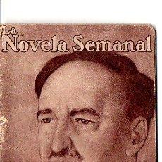 Libros antiguos: VICENTE BLASCO IBÁÑEZ : PUESTA DE SOL (LA NOVELA SEMANAL Nº 1, AÑO 1921). Lote 142439276